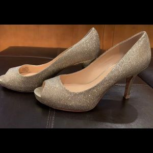 Vince Camuto Stunning Gold Sparkle Heels